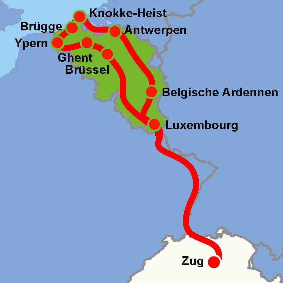 Belgien Rundreise